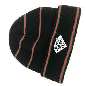 Diamond Supply Co. Accessories - Diamond Supply & Co. | Green Red Black Fold Beanie